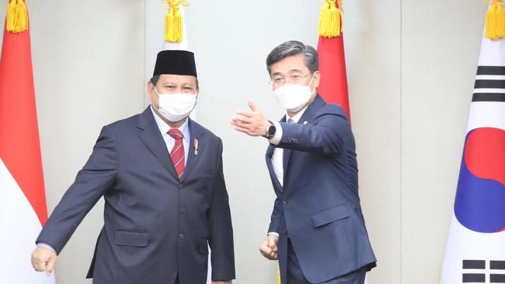 Menteri Pertahanan RI Prabowo Subianto, Kamis (8/4), melaksanakan kunjungan kerja ke Korea Selatan. (Dok. Kemhan)