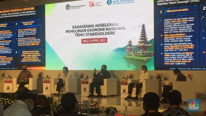 Sarasehan Akselerasi Pemulihan Ekonomi Nasional (CNBC Indonesia/ Monica Wareza)