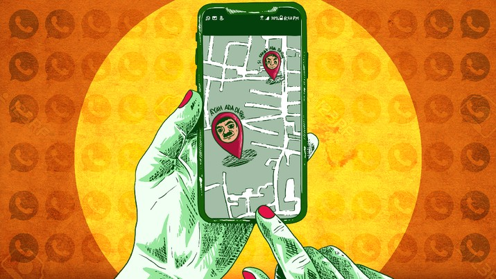 Infografis/ Bunda, Ini Cara Cari Lokasi Suami Lewat WhatsApp/Aristya Rahadian