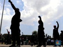 Penampakan Demo Buruh Menuntut THR Lebaran 2021 Dibayar Penuh