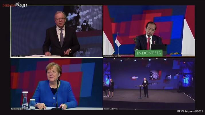 Pembukaan Hannover Messe 2021, Istana Negara, 12 April 2021. (Tangkapan layar Setpres RI)