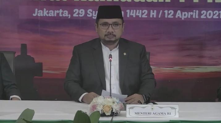 Sidang Isbat Awal Ramadhan 1442H/2021M. (Dok: Tangkapan layar Kemenag RI)