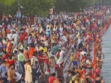 India Chaos! Kasus Harian Covid-19 Tembus 200.000 Per Hari