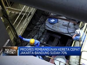 Progres Pembangunan Kereta Cepat Jakarta-Bandung Capai 70%
