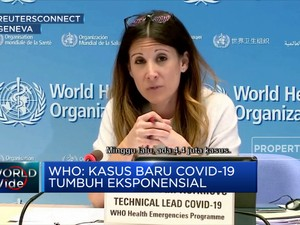 WHO: Kasus Baru Covid-19 Tumbuh Eksponensial