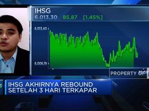 Berhasil Rebound, IHSG Menguat 1,45%