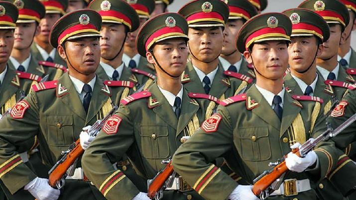 Ilustrasi tentara China. AP/