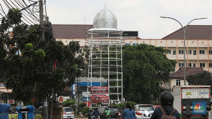Tugu Pamulang. (CNBC Indonesia/Andrean Kristianto)