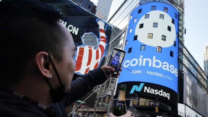 Coinbase. AP/Richard Drew