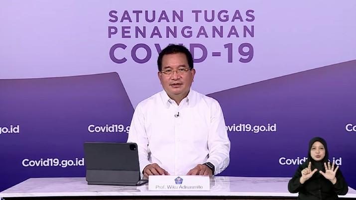Keterangan Pers Tim Pakar dan Juru Bicara Pemerintah terkait Perkembangan Penanganan Covid-19. Dok: Tangkapan layar Setpres RI