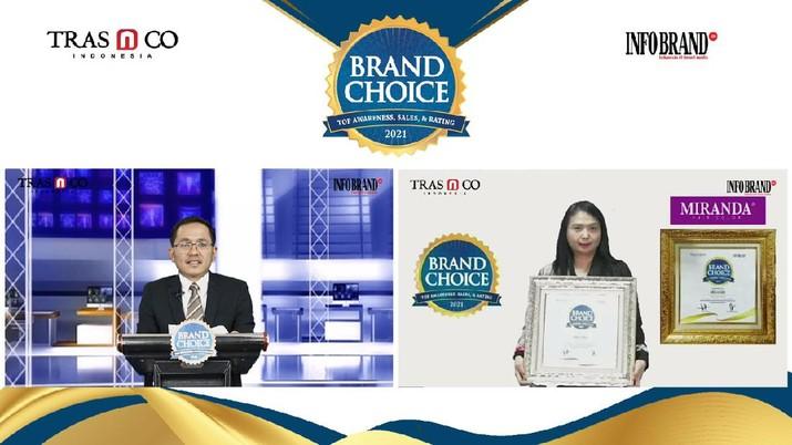 Victoria Care Indonesia, merk Miranda dan Herborist meraih penghargaan Brand Choice Award 2021 melalui survei Brand Choice Index