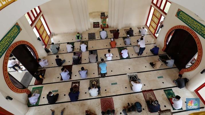 Desain Oriental Masjid Babah Alun. CNBC Indonesia/Muhammad Sabki