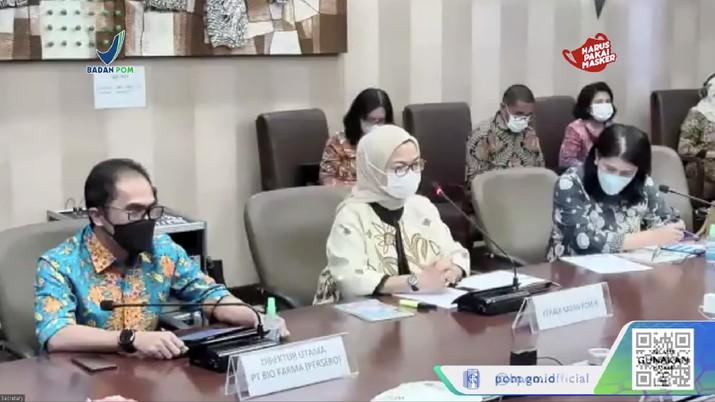 Konferensi Pers BPOM RI terkait Vaksin Merah Putih. Dok: Tangkapan layar Badan POM RI