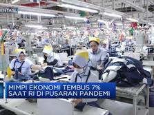 Mimpi Ekonomi Tembus 7% Saat RI di Pusaran Pandemi