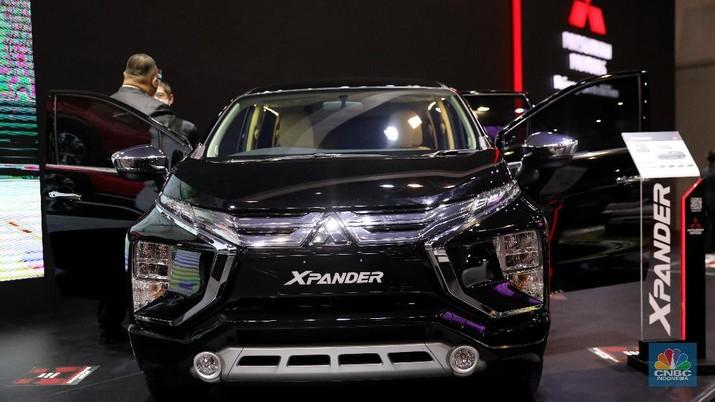 Mitsubishi Xpander di acara IIMS Hybrid 2021. CNBC Indonesia/Andrean Kristianto