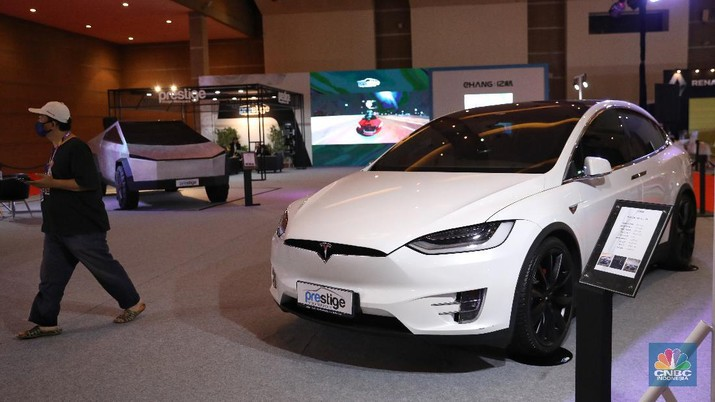 Tesla Model X. CNBC Indonesia/Andrean Kristianto