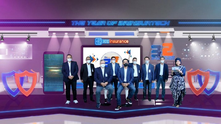 """PT. BRI Asuransi Indonesia atau BRI Insurance (BRINS) memperingati ulang tahun yang ke-32. BRINS dengan bangga mempersembahkan """"The Year of BRINSURTECH"""" sebagai tema utama HUT BRINS tahun 2021."""