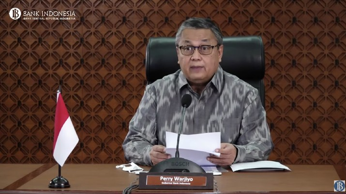 Perry Warjiyo di Rapat Dewan Gubernur (RDG) Bank Indonesia Bulanan  (Youtube Bank Indonesia)