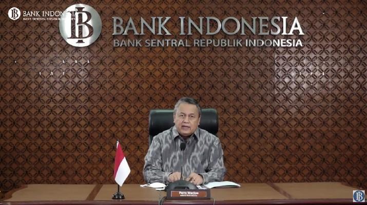 Perry Warjiyo di Rapat Dewan Gubernur (RDG) Bank Indonesia Bulanan (Youtube Bank Indonesia)