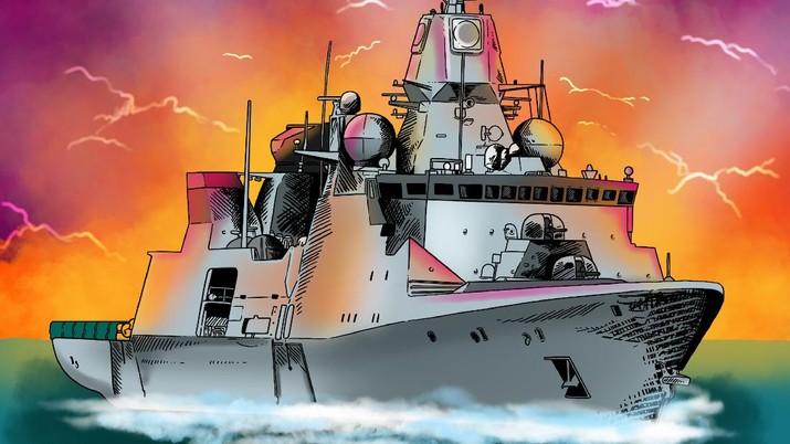 Infografis/ Gandeng Jerman, RI Bakal Bangun Kapal Perang Raksasa/Aristya Rahadian
