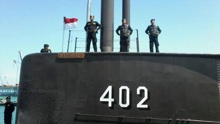 Kapal selam KRI Nanggala 402 di Pelabuhan Banten (Foto: Dana/detikFinance)