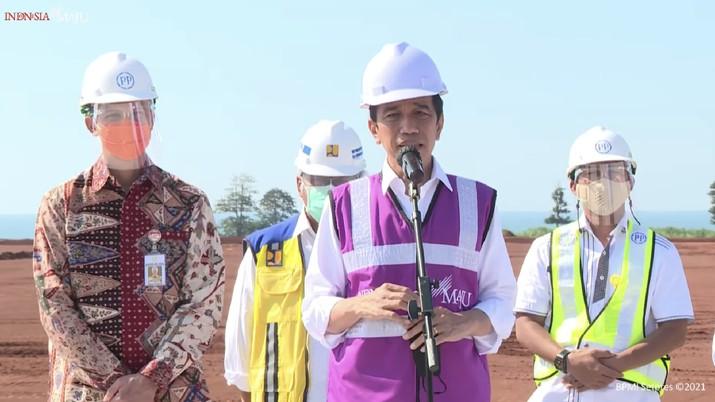 Keterangan Pers Presiden RI, Kabupaten Batang, 21 April 2021. (Tangkapan Layar Youtube)