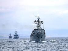 Ini Penampakan Kapal Perang & Jet Tempur Rusia di Laut Hitam