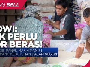 Stok Aman, Jokowi Pede RI Tidak Akan Impor Beras