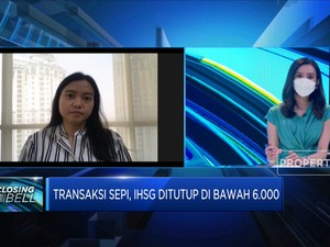 Transaksi Sepi, IHSG Ditutup Di Bawah Level 6.000