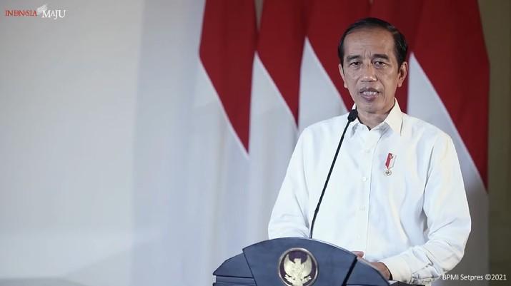 Jokowi memberikan Keterangan Pers Presiden RI Terkait KRI Nanggala-402, Istana Bogor, 22 April 2021