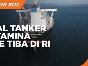 Kapal Tanker Pertamina Pride Tiba di Indonesia