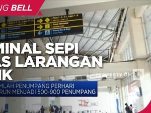 Terminal Sepi Imbas Larangan Mudik