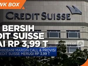 Ada Margin Call, Credit Suisse Bukukan Rugi Bersih Rp 3,99 T
