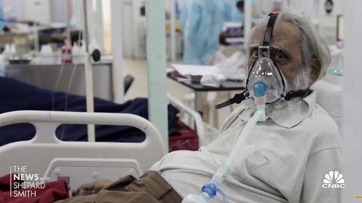 Kondisi Rumah Sakit di India (Tangkapan Layar Youtube CNBC Television)