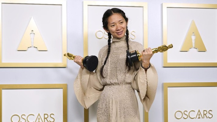 Chloe Zhao, winner of the awards for best picture and director for