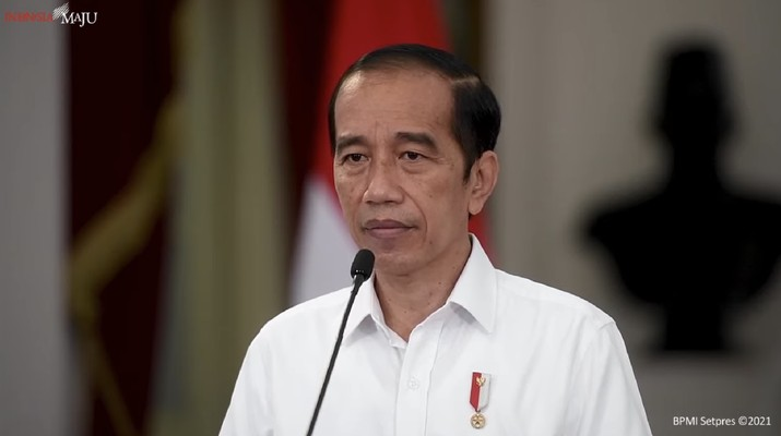 Keterangan Pers Presiden RI Joko Widodo terkait Gugurnya Prajurit KRI Nanggala-402 dan Kabinda Papua. (Tangkapan Layar Youtube Sekretariat Presiden)