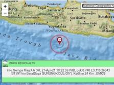 Gempa M 4,6 Terjadi di Jogja Siang Ini