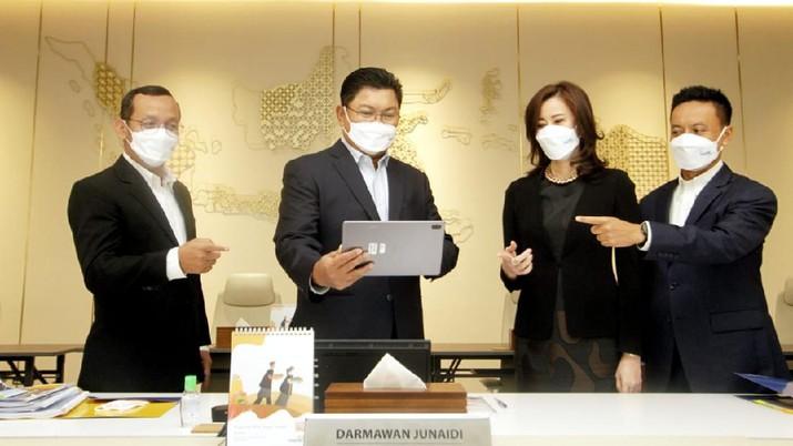 Konferensi pers virtual paparan kinerja kuartal I-2021 Bank Mandiri  (Dok. Bank Mandiri)