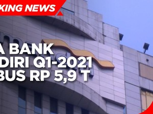 Laba Bank Mandiri Q1-2021 Tembus Rp 5,9 T