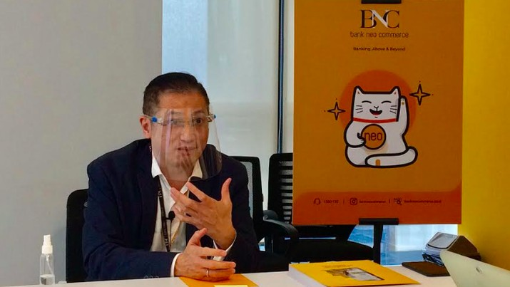Direktur Utama Bank Neo Commerce Tjandra Gunawan (Syahrizal Sidik/CNBC Indonesia)