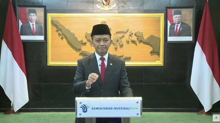 Keterangan Pers Perubahan Status BKPM Menjadi Kementerian Investasi/BKPM (Tangkapan Layar Youtube BKPM)