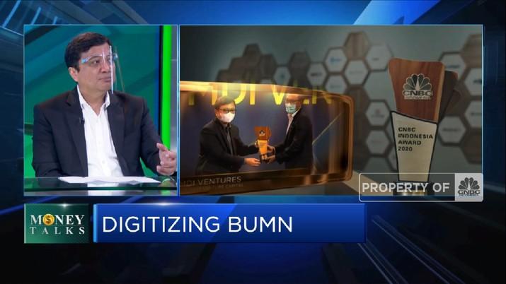 MDI VEntrues: Pemerataan Digitalisasi Percepat Efisiensi BUMN(CNBC Indonesia TV)