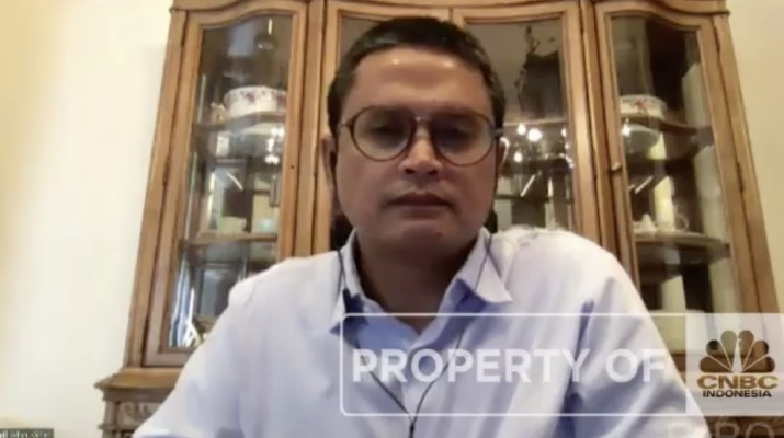 Wakil Direktur Utama Sarana Menara Nusantara, Adam Gifari dalam acara Telco Forum 2021 Bertema