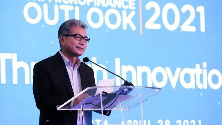 Direktur Utama Bank BRI Sunarso pada kegiatan BRI Microfinance Outlook 2021 (Dok. BRI)