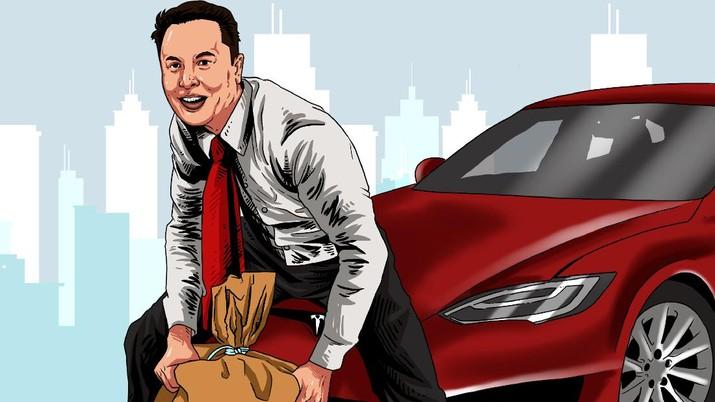 Infografis/ Terbongkar! Tesla Elon Musk Miliki miliaran bitcoin/Aristya rahadian