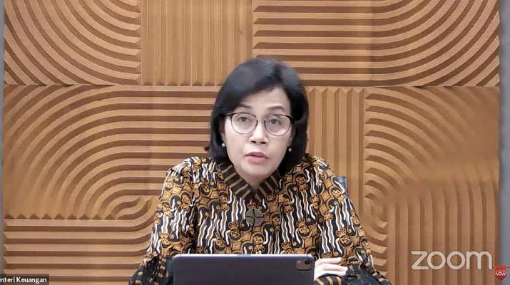 Menteri Keuangan Sri Mulyani dalam Rapat Koordinasi Pembangunan Pusat 2021 (Tangkapan Layar Youtube Bappenas RI)