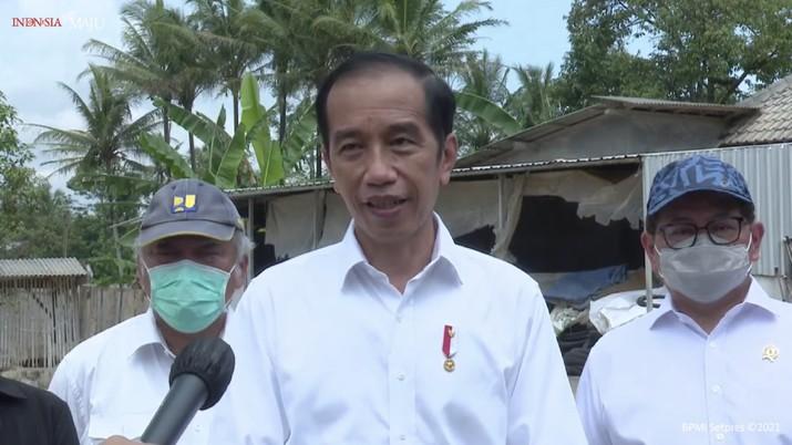 Tangkapan Layar/Keterangan Pers Presiden Jokowi mengenai Peraturan Pemerintah tentang THR, 29 April 2021