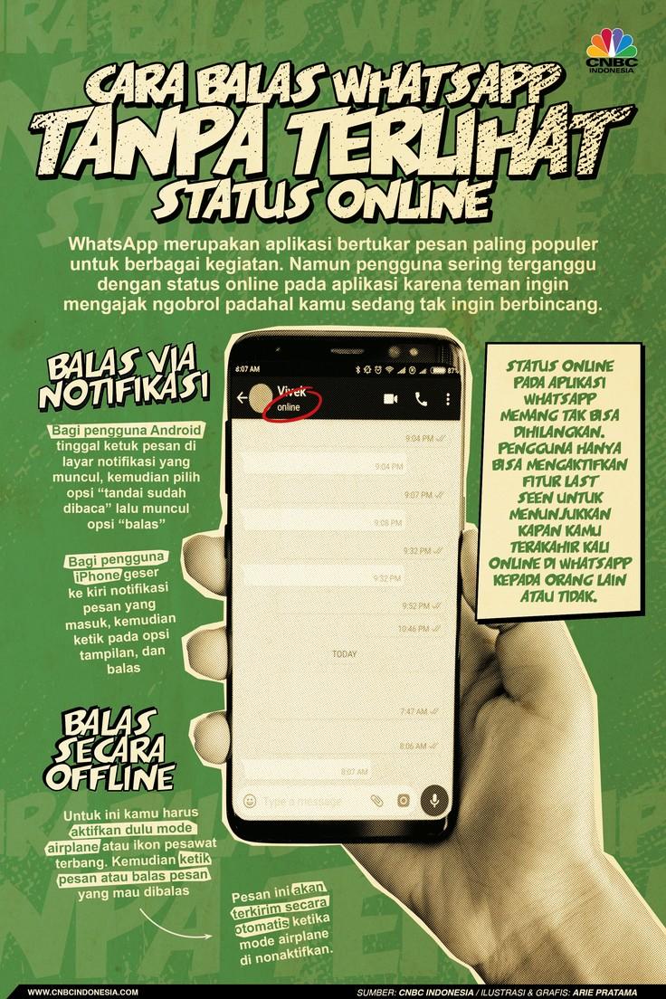 Infografis: Cara Balas WhatsApp Tanpa Terlihat Status Online
