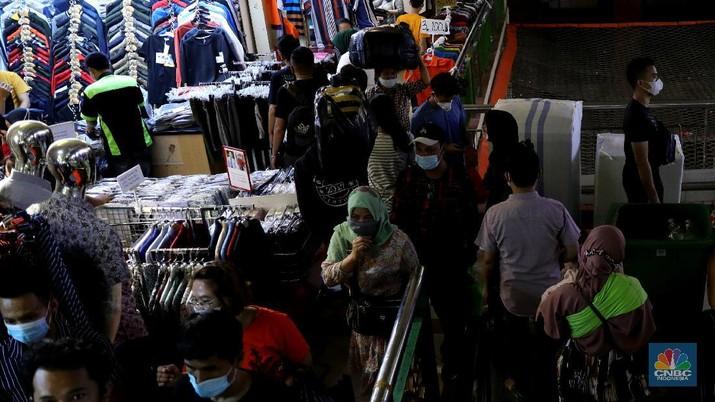 Ilustrasi Pasar Tanah Abang. (CNBC Indonesia/Muhammad Sabki)