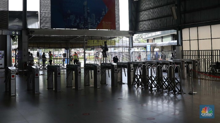 Ilustrasi Stasiun Tanah Abang. (CNBC Indonesia/Muhammad Sabki)